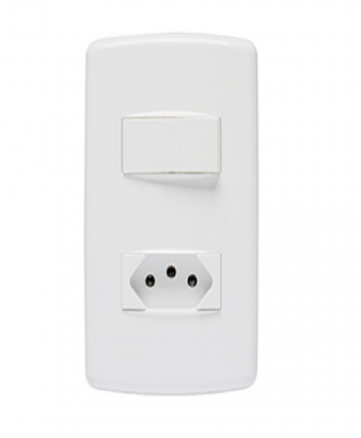 Interruptor simples com tomada 10 Duale Up Iriel