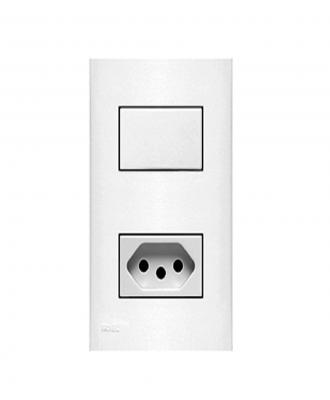 Interruptor Simples com tomada Iriel – 2P+T NBR 10A