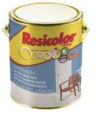 Esmalte Sintético Resicolor – Grafite Claro Fosco 900ml