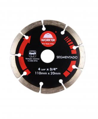 Disco Diamantado Segmentado Worker -110x20mm