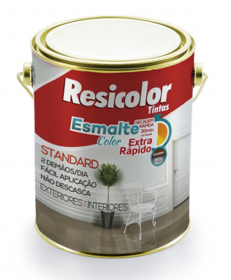 Esmalte Color Extra Rápido Resicolor – Preto Fosco 225ml