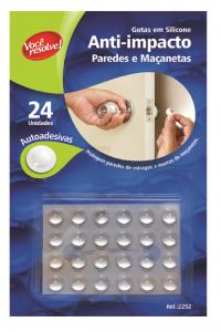 Gotas de Silicone Anti-Impacto para Paredes e Maçanetas – 24 unidades