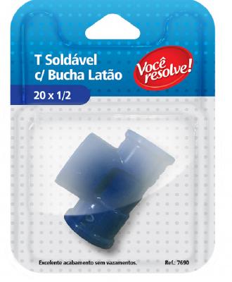 T Soldável com Bucha Latão – 20×1/2″