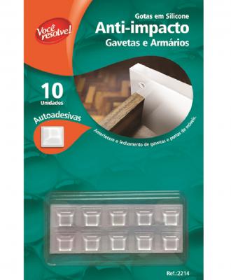 Gotas de Silicone Anti-Impacto para Gavetas e Armários – 10 unidades