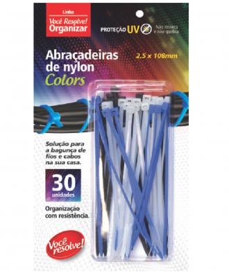 Abraçadeira de Nylon Colors Você Resolve – 2,5 x 108mm