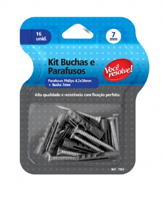 Kit Buchas + Parafusos Você Resolve – 7mm