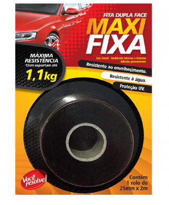 Fita Dupla Face Maxi Fixa Você Resolve – 25mm x 2m